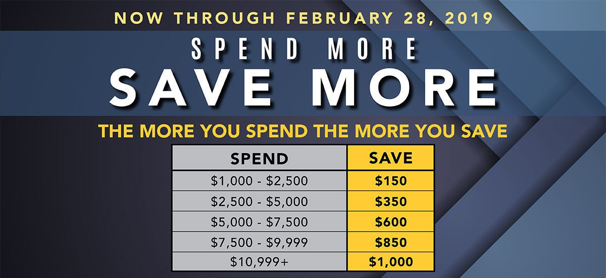 Spend more save more | Degraaf Interiors