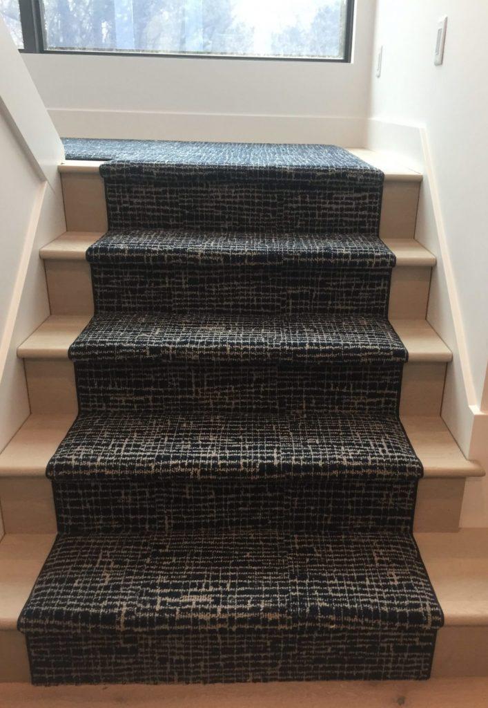 Contrasting Patterned Stair Runner Carpet | Degraaf Interiors