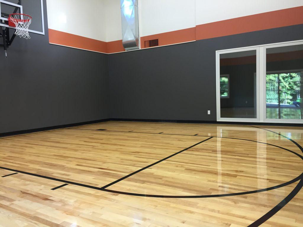 Residential Home Basketball Court Flooring | Degraaf Interiors