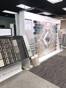 Variety of flooring products in showroom | Degraaf Interiors