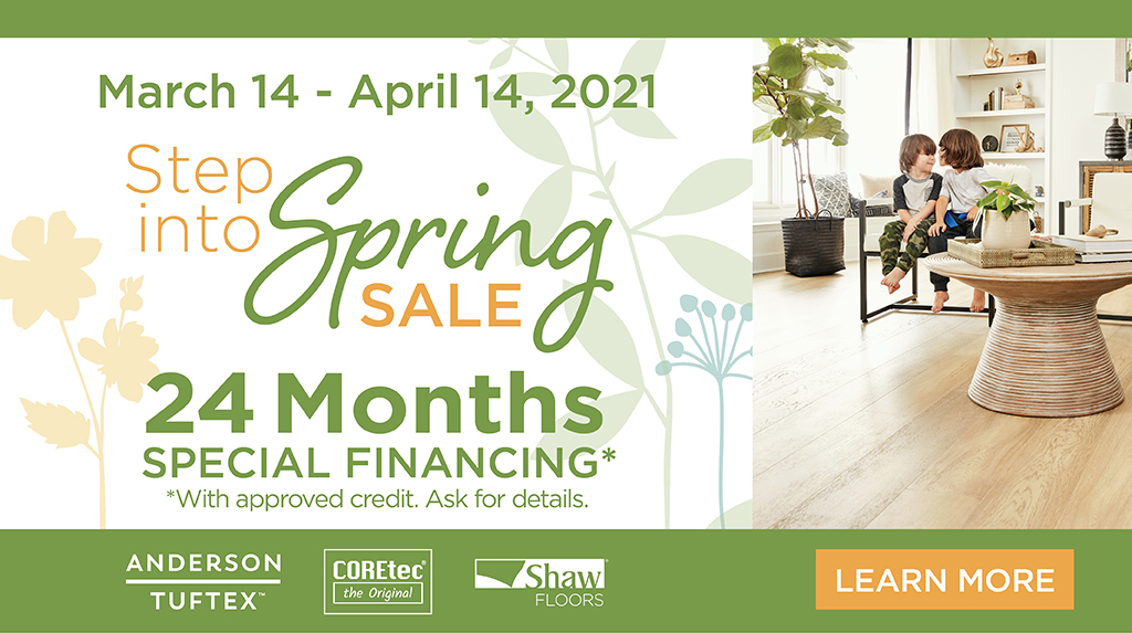 Step into spring sale | Degraaf Interiors